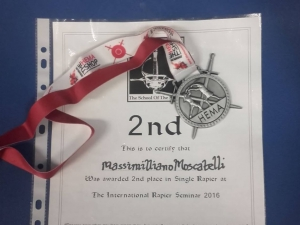 Un argento per Max Moscatelli, allievo ARA, all' International Rapier Seminar di Goldaming, Regno Unito